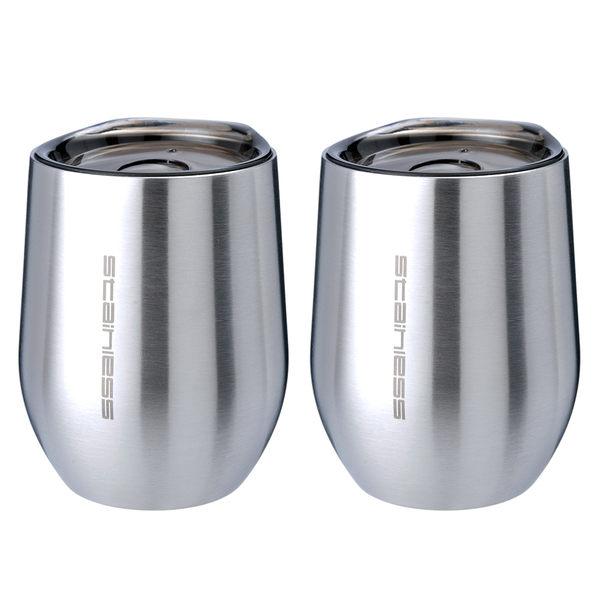 304不鏽鋼雙層真空保溫杯(2入)