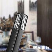【佳工坊】日本精藝雕花鈦合金食安筷組(10雙20入組)