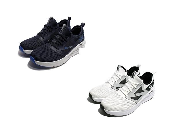 SKECHERS 男慢跑鞋 GO RUN ELEVATE 襪套式-220182NVBL/220182WBK
