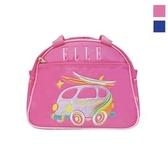 Backbager 背包族【ELLE Petite】嘻彩小汽車系列便當袋/手提袋/野餐袋_藍色/粉紅色