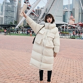 舖棉外套-長版寬鬆立領大口袋純色女夾克2色73wd44【巴黎精品】