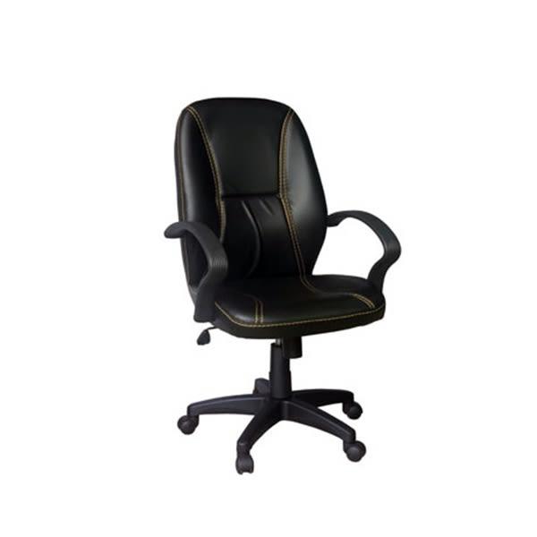 【YUDA】腰靠浮貼設計 HV717-PVC 中背  辦公椅/電腦椅