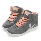 PLAYBOY 美型韓系 針織高筒內增高休閒鞋-灰(Y3753)