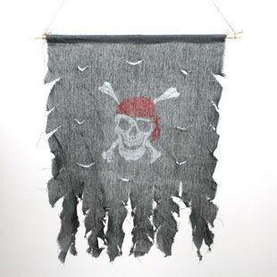 萬聖節用品 裝飾 海盜旗幟  骷髏旗