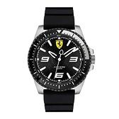 【Ferrari 法拉利】XX KERS簡約賽車時尚競速腕錶-黑銀款/FA0830464/台灣總代理公司貨享兩年保固