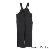 「Summer」綁結吊帶連身工作褲 - Green Parks