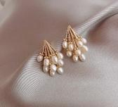 珍珠耳環女925純銀銀針