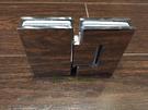 【麗室衛浴】美國KOHLER頂級五金鉸鍊  180度 玻對玻/不鏽鋼活動夾具 S710