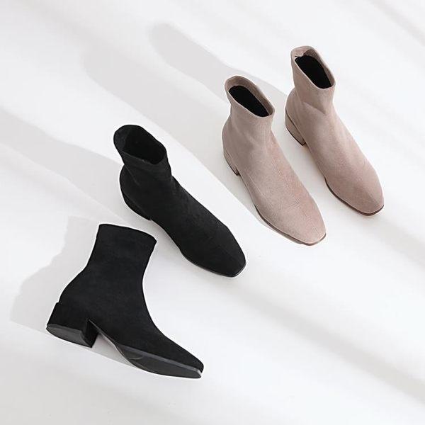 YAHOO618☸ 粗跟小短靴 2019新款 顯瘦mousika