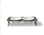 寵物碗寵物餐桌貓咪食盆斜口保護頸椎陶瓷貓碗狗飯碗