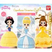 全套3款【日本正版】迪士尼公主 造型轉蛋 蠟筆色版 扭蛋 轉蛋 白雪公主/仙杜瑞拉/貝兒公主 488576