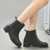 雨靴 雨鞋女短筒韓國可愛時尚款外穿防滑水鞋防水雨靴成人套鞋加絨保暖 小天後