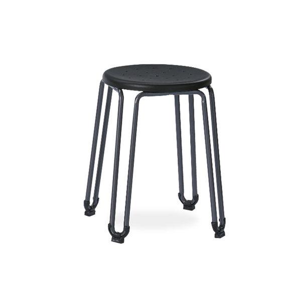 爵士黑造型圓椅凳(18SP/387-10)【DD House】