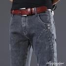 2020年新款潮夏季彈力牛仔褲男褲子薄款寬鬆直筒男士休閒長褲夏天 黛尼時尚精品