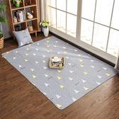 布藝地墊家用臥室北歐榻榻米床邊茶幾純棉爬行地毯防滑可機洗  星空小鋪