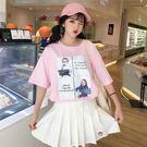 寬鬆短袖t恤女ins潮2019新款夏裝韓版學生喪繫很仙的上衣 超值價