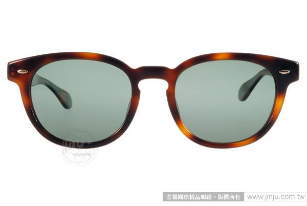 OLIVER PEOPLES 太陽眼鏡 SHELDRAKE SUN 10079A (琥珀) 濃厚復古風粗框偏光款 # 金橘眼鏡