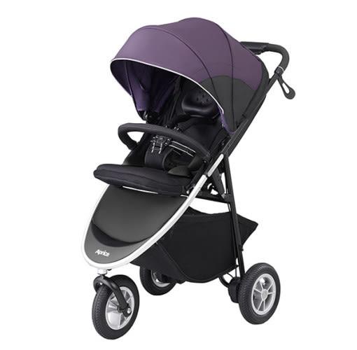 愛普力卡 Aprica SMOOOVE 大三輪 挑高型座椅大三輪型嬰幼兒手推車-紫虎