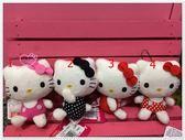 ♥小花花日本精品♥Hello Kitty 絨毛娃娃/吊飾/掛飾 包包吊飾 11402206