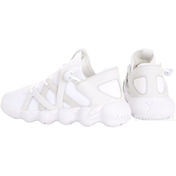 Y-3 KYUJO LOW 拼接設計綁帶運動鞋(白色) 1720038-20