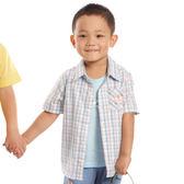 【愛的世界】純棉格子襯衫/12歲-台灣製- ★春夏上著