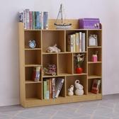 兒童書架落地小書柜簡易小學生園置物架 萬客城