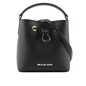 【MICHAEL KORS】Suri 素面防刮皮革手提/斜背二用水桶包(小款)(黑色) 35T0GU2C0L BLACK