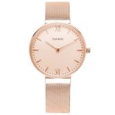 【台南 時代鐘錶 TAYROC】英國簡約現代風 CORO 米蘭帶時尚腕錶 TY146 玫瑰金 36mm