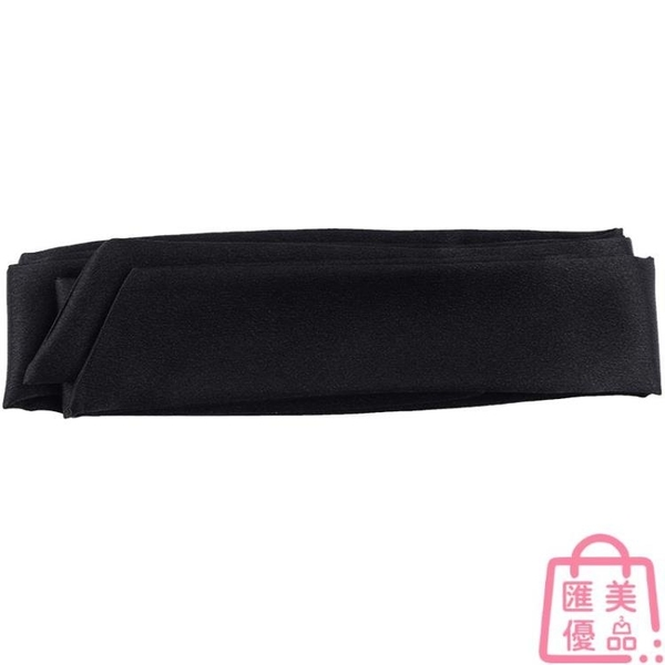 寬腰封腰帶女士收腰裝飾黑色古風絲綢絲巾配連衣裙子【匯美優品】