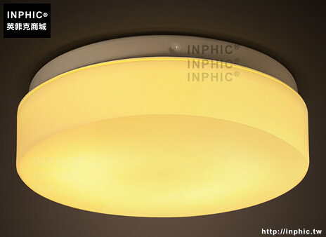 INPHIC- 北歐現代門廳入戶客廳簡約圓形吸頂燈走廊陽臺玄關玻璃燈_S197C
