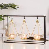歐式燭臺 客廳家居裝飾品蠟燭擺件浪漫燭光晚餐小道具 BF10686『男神港灣』