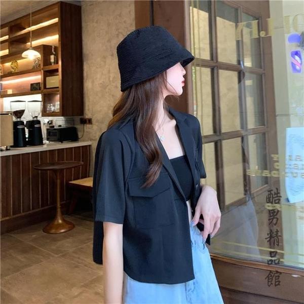 夏季2020年新款韓版西裝短外套短袖上衣女氣質女神范衣服寬鬆薄款 酷男精品館