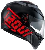 [中壢安信]義大利 AGV K-3 SV K3 SV K3SV MYTH 黑灰紅 全罩 安全帽 送涼感頭套