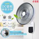 【勳風】14吋節能DC扇涼風扇/掛扇/壁...