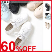 素色休閒鞋 女球鞋白 日本品牌【coen】