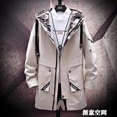 風衣男士中長款青少年春秋冬季大碼韓版潮流英倫風設計感帥氣外套 創意新品