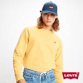 Levis 男款 重磅大學T / 迷你Logo徽章 / 芥末黃