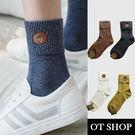 [現貨] [多件優惠] 小熊圖案 中筒襪 襪子 短襪 長筒襪 保暖襪 韓風 復古文青 M1006 OT SHOP