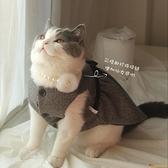 寵物衣服狗狗貓咪 春日經典黑白格紋馬甲裙 韓劇寵物穿搭【小獅子】