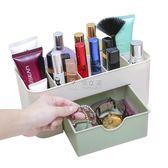 壁掛抽屜式化妝品收納盒梳妝臺護膚品桌面收納盒置物架塑料收納箱YYP 俏女孩