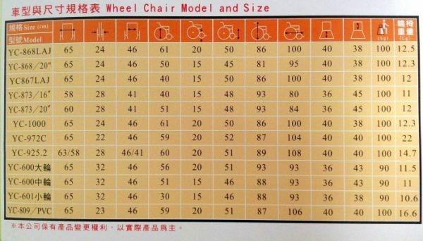 頤辰機械式輪椅(未滅菌) (YC-972C)