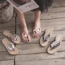 涼拖人字拖鞋女外穿平底可愛度假沙灘鞋女拖鞋海邊防滑夾腳