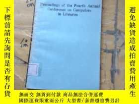 二手書博民逛書店proceedings罕見of the fourth annua