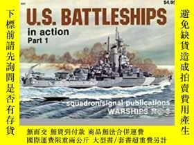 二手書博民逛書店U.S.罕見Battleships in Action Part 1 (damaged)-U、 美國戰艦在行動第1