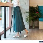 《BA4021》高含棉休閒素面打褶設計後腰鬆緊寬版闊腿褲 OrangeBear
