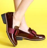 MIT*(橡膠底)緞帶款/進口漆皮/手工鞋-55822 酒紅-papaies 氣墊鞋 (全真皮)
