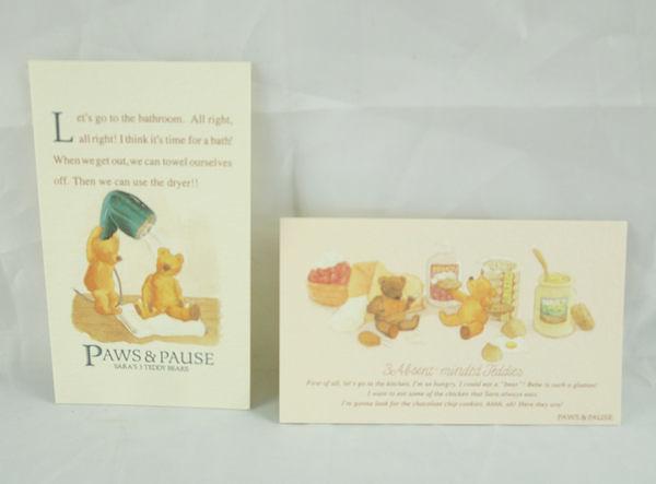 【震撼精品百貨】日本泰迪熊 _Paws Pause 泡泡熊~明信片『沖澡&甜點』