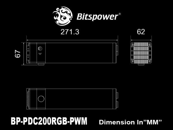 [地瓜球@] Bitspower DDC Reservoir Combo 200 RGB-PWM 水箱 馬達