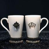 歐式創意冰裂瓷工藝陶瓷圓形情侶漱口杯牙刷杯衛浴簡約洗漱套件第七公社