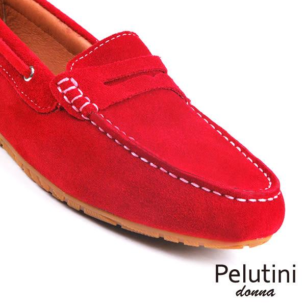 【Pelutini】donna經典休閒鞋/女鞋 紅色(8336W-REDS)